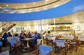 The restaurant on the Aegean Odissey