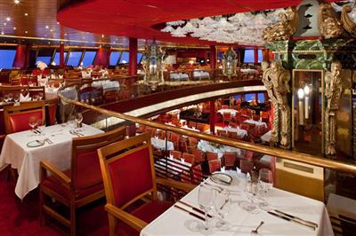 The Rotterdam Dining Room is the MS Veendam main restaurant