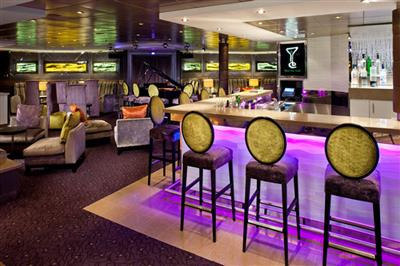 The Martini bar inside The Mix on the MS Veendam