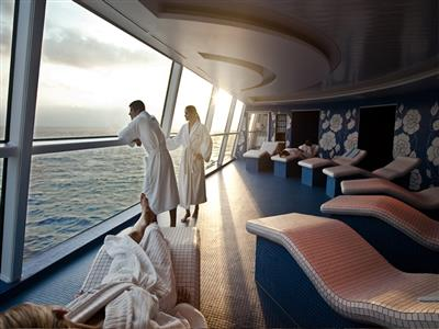 Passengers are enjoying the Aqua Spa on  Celebrity Silhouette