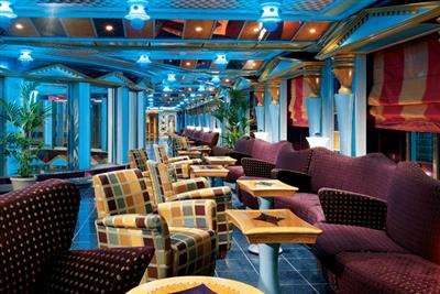 A view of Gotham Lounge onboard Carnival Miracle.