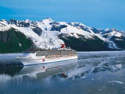 Carnival Miracle during a cruise from Seattle to Alaska.
