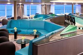 The Sky Bar, on Seabourn Sojourn's deck 9