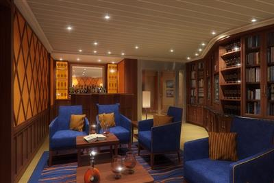 A detail of the library onboard Carnival Sunshine.