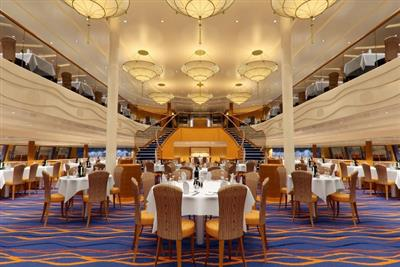 The luxurious Sapphire Dining Room onboard Carnival Sunshine.