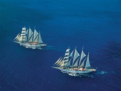 A birds'eye view on the Royal Clipper by Star Clippers