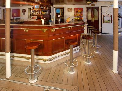 The Tropical Bar onboard the Royal Clipper
