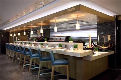 The Wasabi Sushi Bar, a la carte Japanese restaurant on the Norwegian Epic