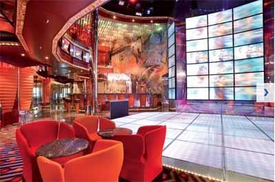 The dance-floor of Discoteca Altair onboard Costa Luminosa