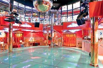 The  dance floor of Discoteca Grado on Costa Magica's  deck 4