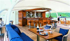 A relaxing area on the Seadream I