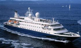 SeaDream II, exterior, starboard