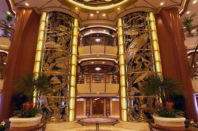 A picture of the Piazza, the energetic heart of Royal's Caribbean Princess.