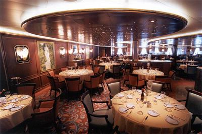The Donatello dining room on the Golden Princess