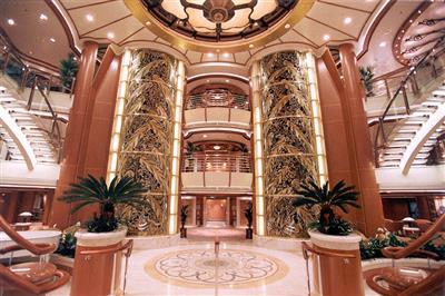 The atrium on the Golden Princess