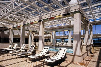 The adult-only Solarium with indoor/outdoor pool of rhapsody's deck 9
