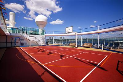 The multi-purpose  sport court on the Serenade of the Seas