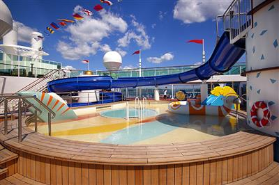 A whirlpool on the Serenade of the Seas