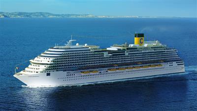 Costa Diadema sailing the Med