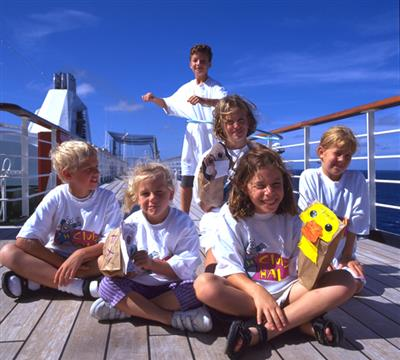 Kids enjoying their cruise holiday