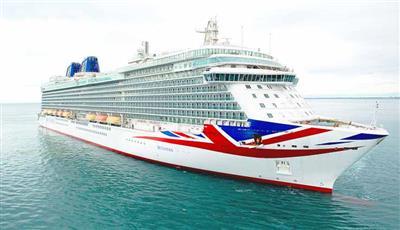 The stilish bow of P&O's Britannia.