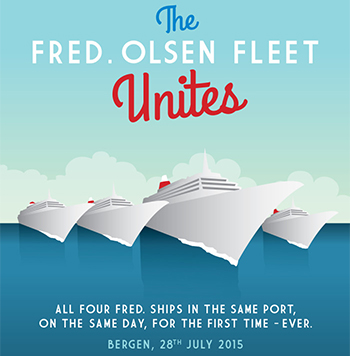 Fred. Olsen Cruise Lines Fleet Unites in Bergen