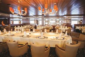 Pole to Pole, the main dining room on Saga Sapphire's deck 7