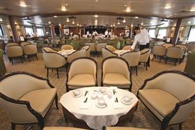 The  main dining room onboard Saga Pearl II