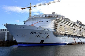 See NEW construction photos of Harmony of the Seas