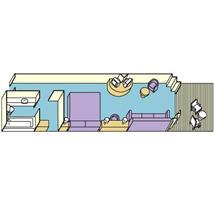 Carib Mini Suite w/Balcony Plan