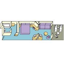 Diamond_Mini-Suite Balcony Plan