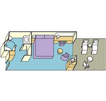 Golden_Oceanview Double Balcony Plan