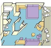 Sea_Mini-Suite Balcony Plan