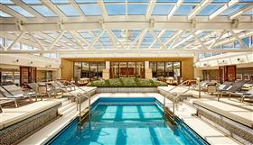 The pool with thye retractable roof closed - Viking Sun