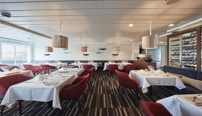 The main dining room on the MS Nordkapp