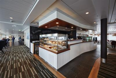 The food counter in the Utrost Café
