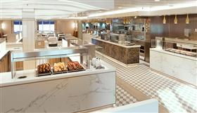 The Kings Court, a relaxed self-service restaurant on the Queen Mary 2