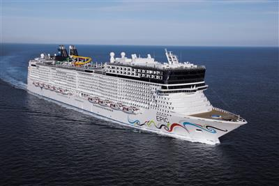 Norwegian Epic by NCL, exterior
