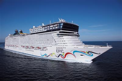 Norwegian  Epic, starboard side, exterior