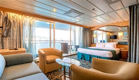 The Grand Suite with balcony on the TUI Discovery by Thomson  Cruises