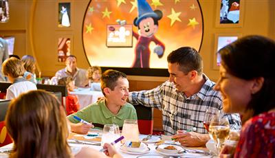 Animator's Palate, the themed main dining restaurant onboard Disney Dream