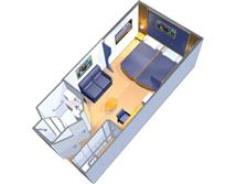 Large Interior Stateroom Plan