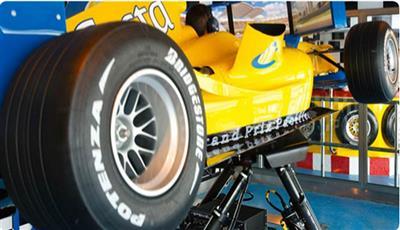 A racing car  simulator on Costa Pacifica