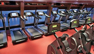 Threadmills in Costa Pacifica's gym