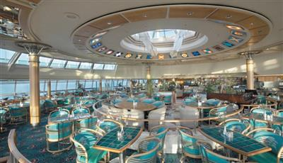 A bar lounge on the Vision of the Seas by Royal Caribbean