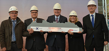 Steel Cutting Starts for Celebrity Cruises Edge Class