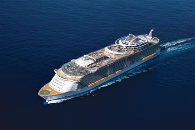 Oasis of the Seas by Royal Caribbean, view from above, exterior