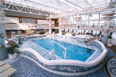 The Calypso Reef and Pool  with retractable glass roof