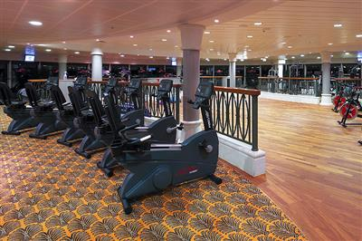 The fitness room on the Serenade of the Seas