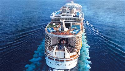 Oasis of the Seas by Royal Caribbean, exterior, stern view